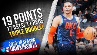 Russell Westbrook Triple Double 2018 12 19 Thunder vs Kings   19 11 17 Asts!  FreeDawkins