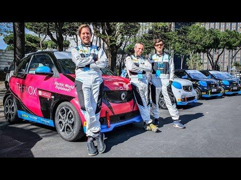 Formula E a Roma - In Pista insieme a Galeazzi con le Smart EQ!