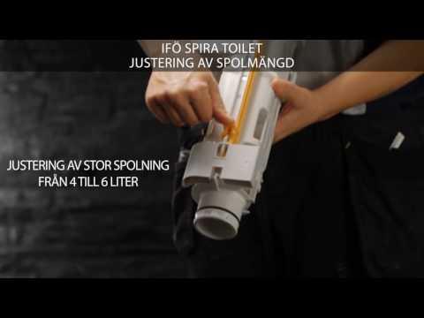 Justering av spolmångd - Ifö Spira toalett