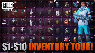 SEASON 1-10 INVENTORY TOUR PUBG MOBILE | Future Gaming