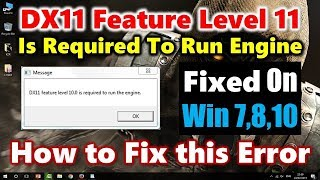 Fortnite [FIX] DX11 FEATURE LEVEL 10.0 is required to run the engine