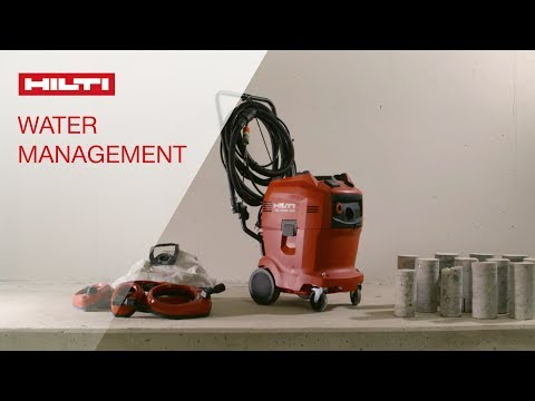 INTRODUCING a clean new way to core drill concrete -  Hilti DD WMS 100 water management system