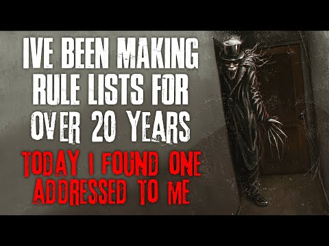 I ve Been Making Rule Lists For Over 20 Years, Today I Found A List Addressed To Me  Creepypasta