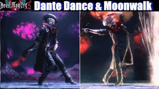 DMC 5 Dante Dance & Moonwalk Michael Jackson Style - Devil May Cry 5 PS4 Pro