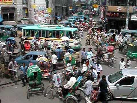 Old Dhaka Intersection View, Beautiful Chaos