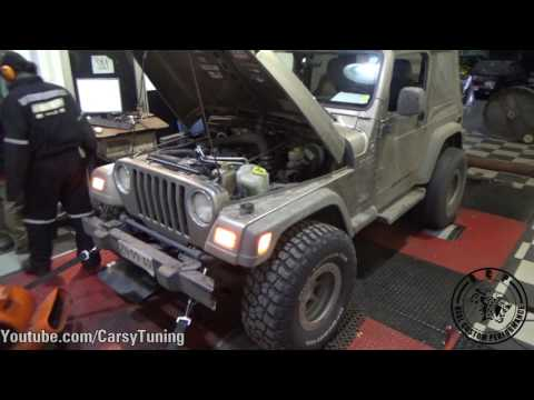 Jeep Wrangler Dyno Run - 169 HP and 290 Nm