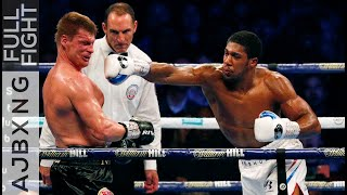 Full Fight   Anthony Joshua Vs Alexander Povetkin KO