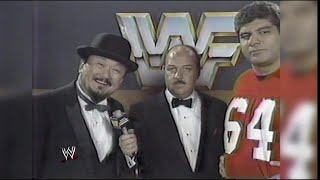 """Mean"" Gene Okerlund interviews Mr. Fuji and Don Muraco: WWE, October 1985"