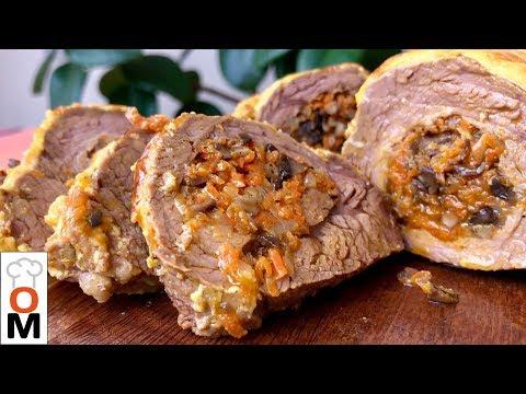 Просто Королевский Обед | Фаршированное Мясо Грибами