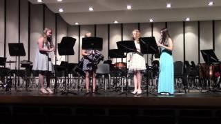 Third Movement from Symphony No 94 - Clarinet Quartet Summer Band Camp, 2016