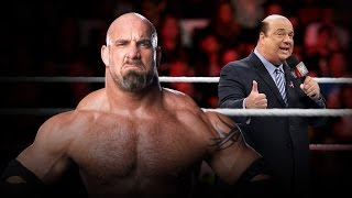 Reacciones del reto de Paul Heyman a Bill Goldberg