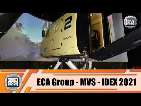 IDEX 2021 ECA Group presents their solutions of military driving simulators Abu Dhabi UAE