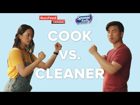 Cook vs. Cleaner // Presented by SpongeTowels & BuzzFeed