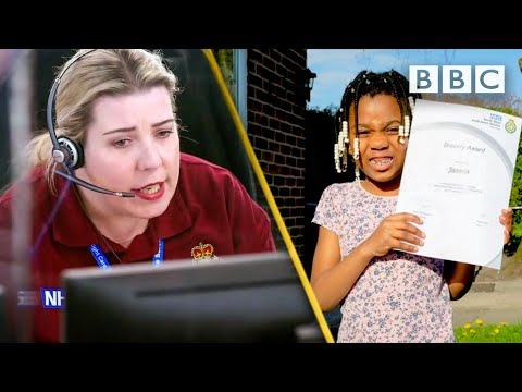 Five-year-old dials 999 when she can't wake up Mum 😲💕 BBC
