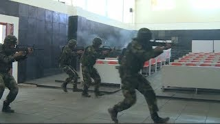 Chinese PAPF conducts anti-terror drill in Qinghai plateau areas