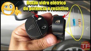Botão interruptores de vidro elétrico de sinal resistivo , sinal baixo e de potência