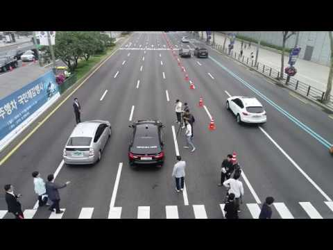 강남 한복판서 자율주행, 빨간불에 '스톱' 제동은 '...