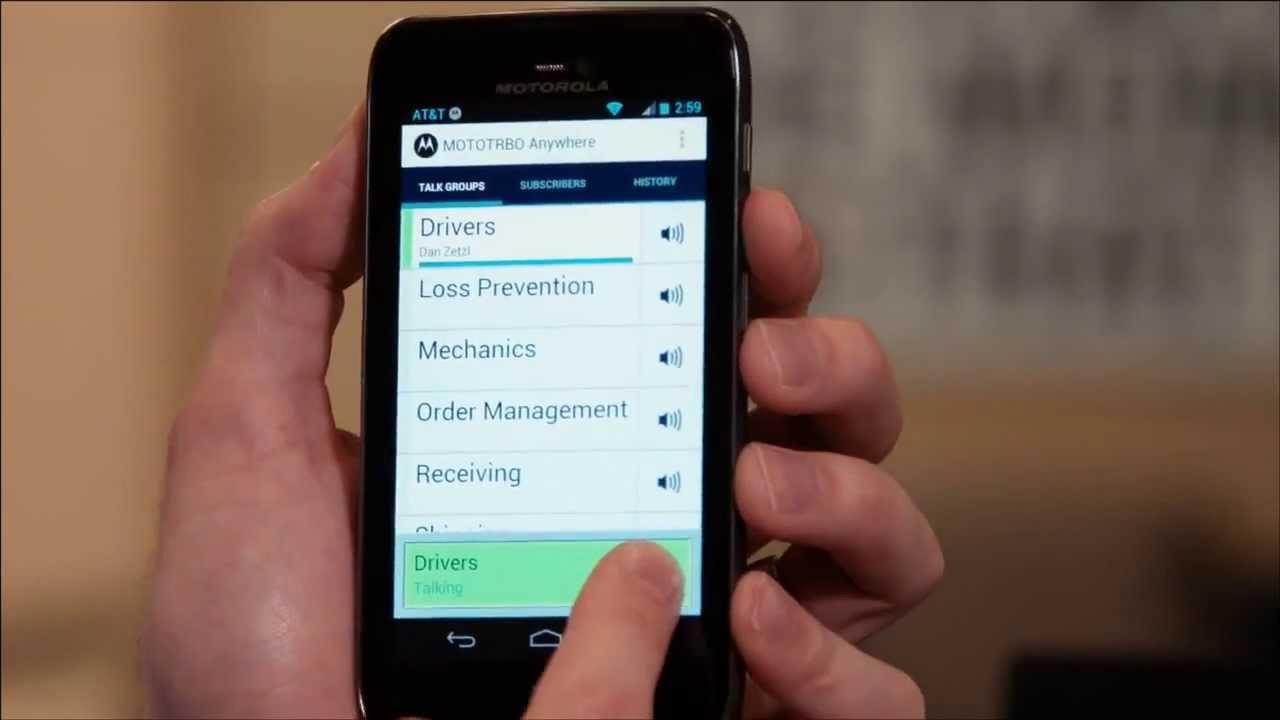 Motorola Solutions' MOTOTRBO™ Anywhere: A Demonstration