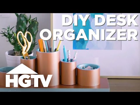 Make a DIY Desk Organizer With PVC Pipe - HGTV