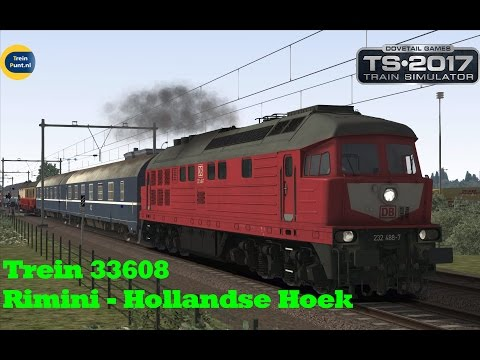 Trein 33608 Rimini - Hollandse Hoek (Auto Slaaptrein) | BR232 | Train Simulator 2017