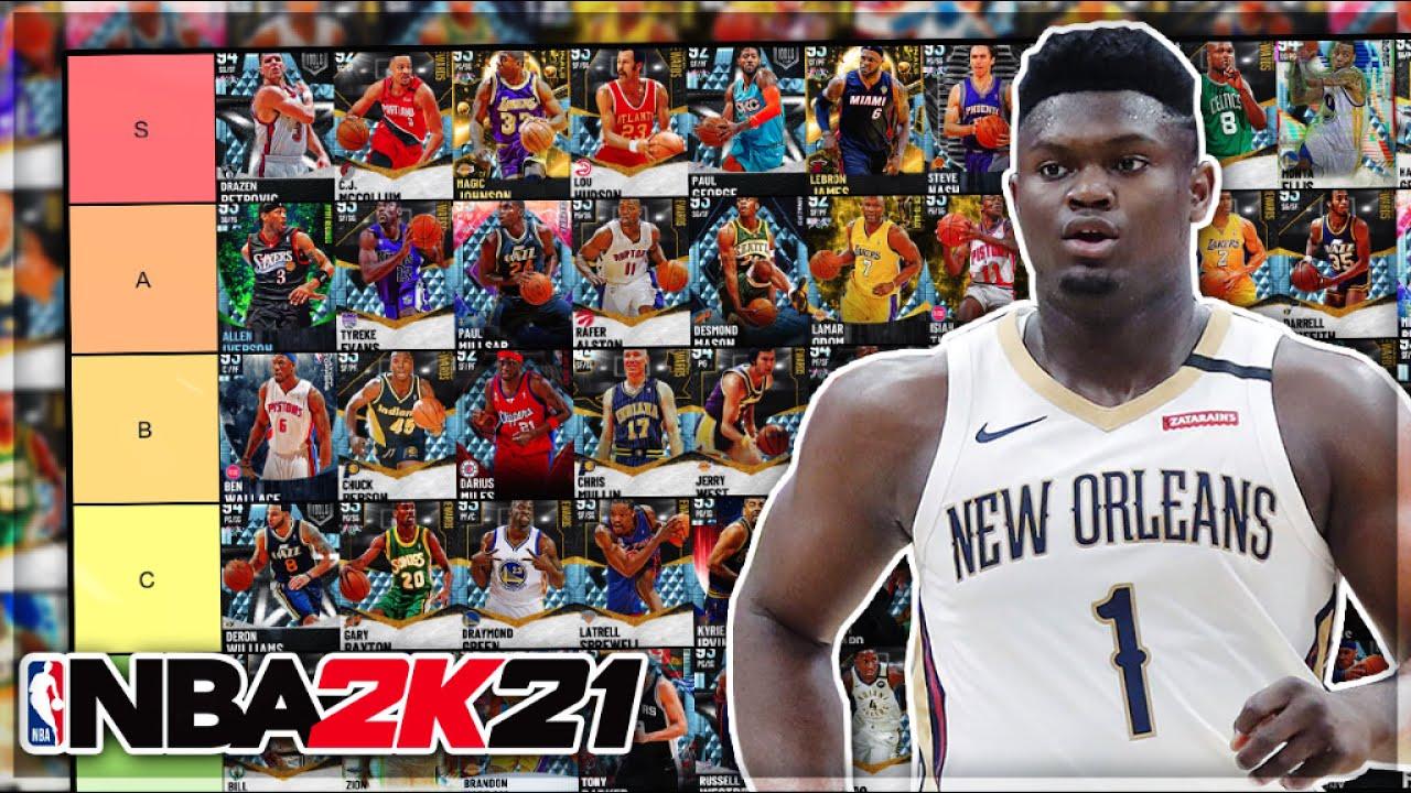 DBG - RANKING THE BEST DIAMOND CARDS IN NBA 2K21 MyTEAM!! (Tier List)