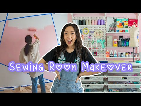 I TRANSFORMED MY SEWING STUDIO | Sewing Room Tour @coolirpa