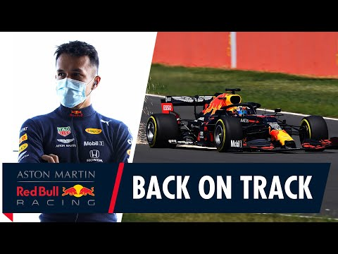 Getting back on track with the RB16 at Silverstone!
