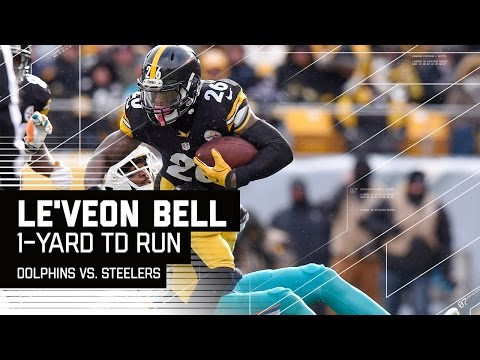 Le'Veon Bell Powers Down the Field for the TD! | Dolphins vs. Steelers | NFL Wild Card Highlights