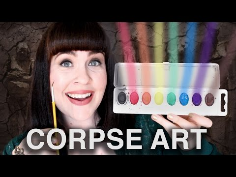ASK A MORTICIAN- Painting with Human Remains!