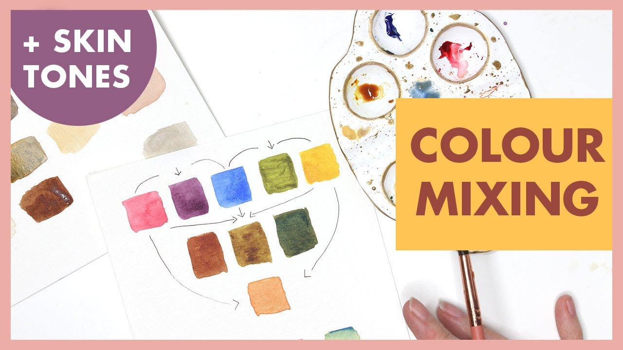 Colour Mixing Basics & Skin Tones for Watercolour Painting