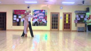 Mr. Nikolay and Ms. Sarah dancing the Rumba