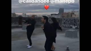 "Maite Perroni & Cali y El Dandee - Nahrávanie videoklipu k piesni ""Loca"" 18/20"