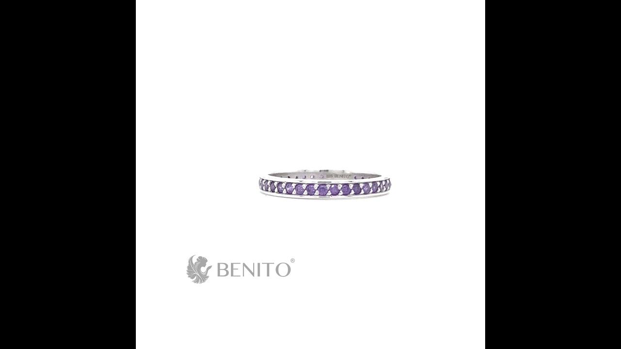 Lina Ring Purple Zircon Stones