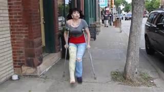 Crutching through Hudson, WI