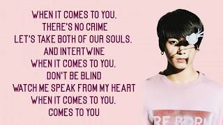 BTS Jungkook - 2U ft. Justin Bieber [Lyrics]