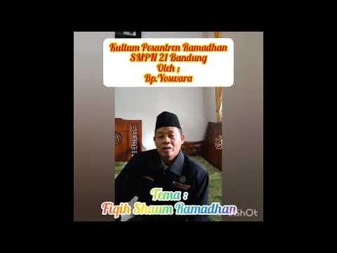 Pesantren Ramadhan 2021 ; Materi Fiqih
