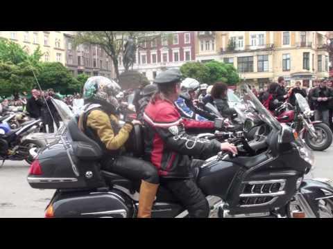 Bikers in Lviv