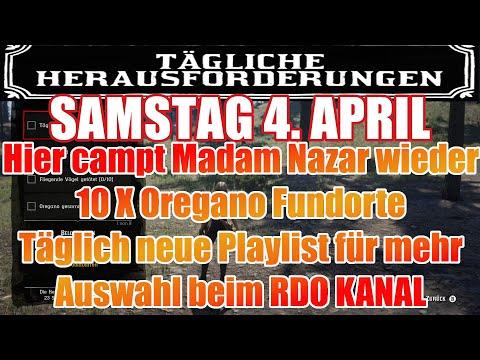 Samstag 4. April Täglichen Herausforderung Dailys Nazar Red Dead Redemption 2 Online