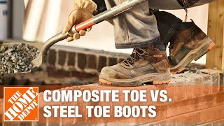 Video explaining steel toe and composite toe boots