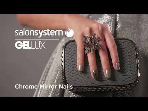 How to create Chrome nails | Gellux Chrome Mirror Powder Kit