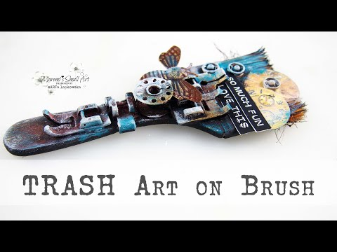 Use Trash on your Brush – mixed media recycling ✂️ Maremi's Small Art