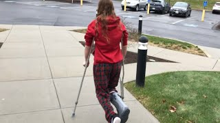 Day In The Life With Crutches | Vlogs | mylifewithpets_13