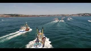 Port of Brixham Trawler Race 2017 Film - Official Video (drone/ground)