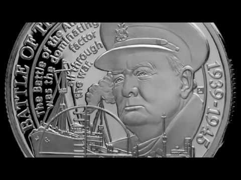 Slaget om Atlanterhavet, krigsseilerne og Winston Churchill minnes på ekte sølvmynt