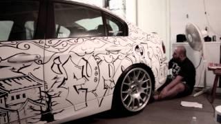 Ronn's BMW  E90 + Tony Mora's Sharpie art