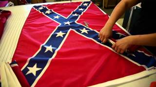 Alabama Flag & Banner, Huntsville, makes Confederate flags in-store