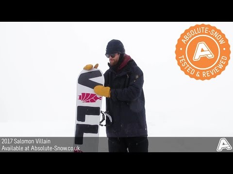 2016 / 2017 | Salomon Villain Snowboard | Video Review
