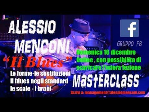 """Materclass online  di chitarra jazz con Alessio Menconi- """"Il Blues"""""""