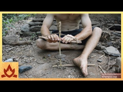 Primitive Technology: Cord drill and Pump drill Poster