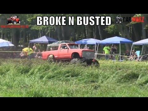 BROKE N BUSTED Chevy Mudding At Perkins Summer Sling Mud Bog 2018